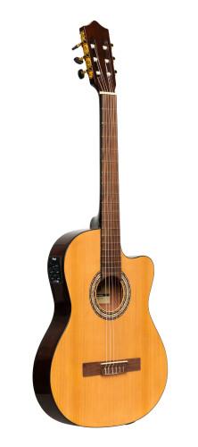 Guitare classique électro-acoustique pan coupé SCL60 avec EQ 4 bandes de B-Band, couleur naturelle