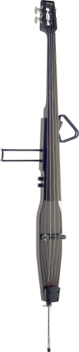 3/4 deluxe electric double bass with gigbag, dark brown