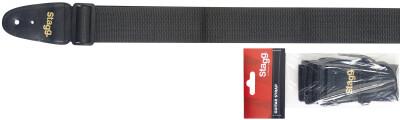 Gitarrengurt, 5 cm breit, schwarz