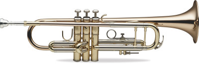 Professional Bb Trumpet, Bell and leadpipe in gold brass
