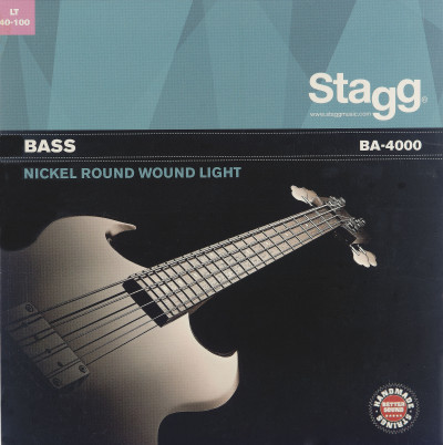 Nickel round wound set of strings for electric bass guitar