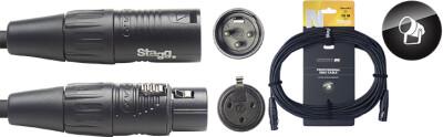 DMX cable, XLR/XLR (m/f) (3 pins), 15 m (50'), N-series