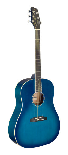 Slope Shoulder dreadnought guitar, transparent blue