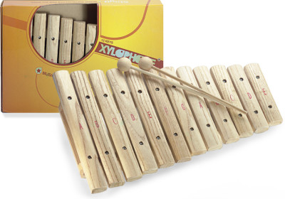 12-key xylophone, with mallets