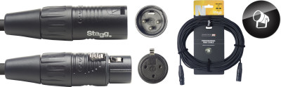 DMX cable, XLR/XLR (m/f) (3 pins), 20 m (66'), N-series