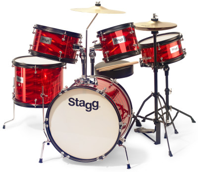 "5-piece junior drum set with hardware, 8"" / 10"" / 10"" / 12"" / 16"""