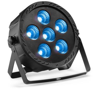 Flat ECOPAR 6 spotlight with 6 x 30-watt RGBW (4 in 1) LED
