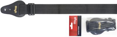 "2"" Black Guitar strap"