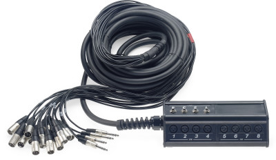 N-Series Stagebox with 16 x XLR inputs/ 4 x phone-plug outputs