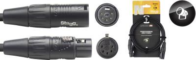 DMX cable, XLR/XLR (m/f) (5 pins), 3 m (10'), N-series