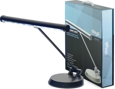 LED-piano/bureaulamp met batterij- en netvoeding