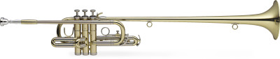 Bb Herald Trumpet, ML-bore, Brass body material