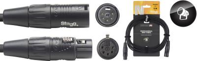 DMX cable, XLR/XLR (m/f) (5 pins), 10 m (33'), N-series