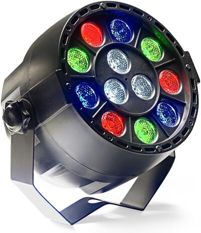 ECOPAR XS spot met 12 x 1 watt R/G/B/W LED