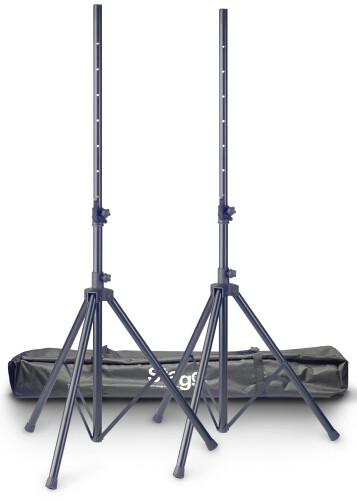 Set of 2 aluminium speaker stands