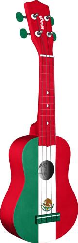 Graphic series, traditional soprano ukulele, in black nylon gigbag