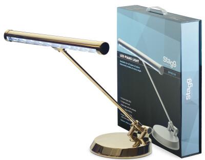 Lampe LED dorée pour piano ou bureau fonctionnant sur piles ou sur secteur