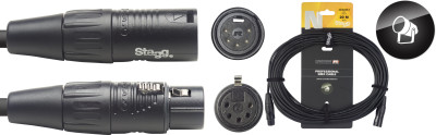 DMX cable, XLR/XLR (m/f) (5 pins), 20 m (66'), N-series
