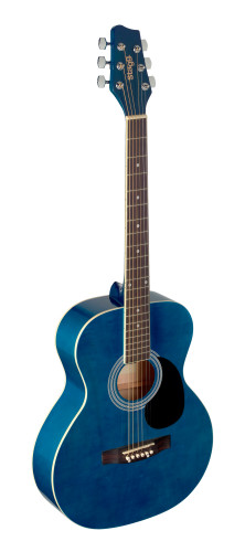 4/4 blue auditorium acoustic guitar with linden top