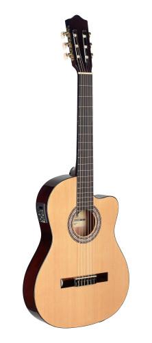 Elektroakustik Klassik-Gitarre cutaway m. 4-Band EQ (B-Band design)