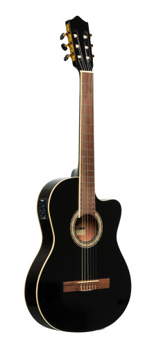 SCL60 cutaway acoustic-electric classical guitar with B-Band 4-band EQ, black