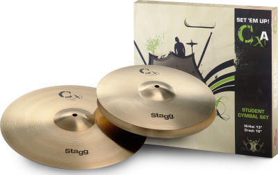 Brass cymbal starter set