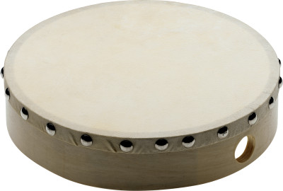 "8"" pre-tuned wooden hand drum with rivetted skin"