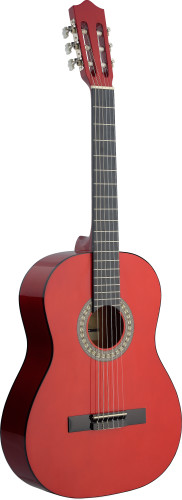 4/4 dark red classical guitar with basswood top