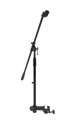 Microphone boom stand, to mount on a keyboard stand