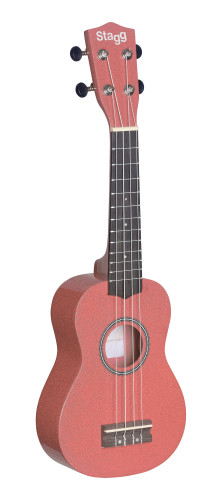 Soprano ukulele in black nylon gigbag