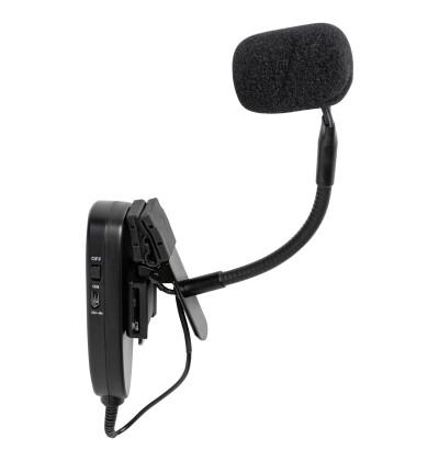 Draadloze saxmicrofoonset met zender en ontvanger