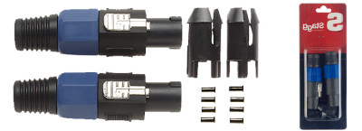2x male speaker-plugs with 4 pins