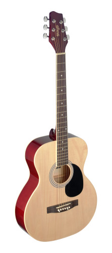 4/4 natural-coloured auditorium acoustic guitar with linden top