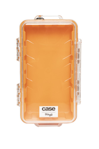 Water- and dustproof mini universal transport case with rubber lining