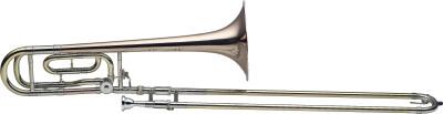 Pro Trombone à coulisse ténor en Sib et Fa, pavillon en cuivre rose, perce L