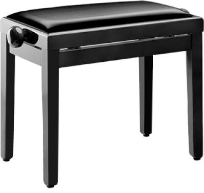 Banquette piano avec pelote en skai noir