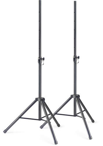Q Serie Stahl Lautsprecherstativ Paar mit einklappbaren Beinen