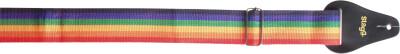 Gitaarband in regenboogkleuren