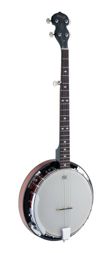 5-string Western Banjo Deluxe with wood pot