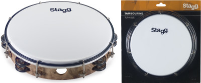 "10"" Tuneable plastic tambourine with 2 rows of jingles"