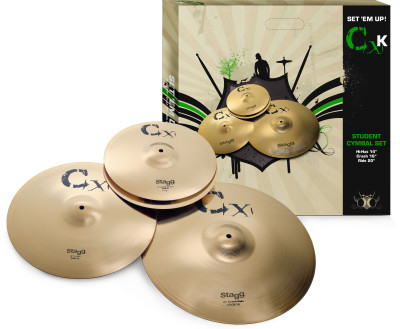 Standard brass cymbal set