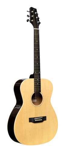 Auditorium guitar with basswood top, natural colour