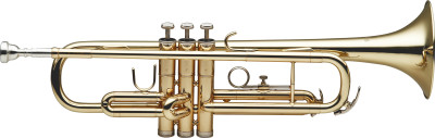 Bb Trumpet, ML-bore, gold brass body
