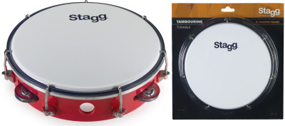 "8"" Tuneable plastic tambourine with 1 row of jingles"