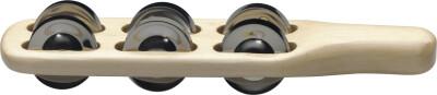 Cymbalettes à manche en bois avec 6 paires de cymbalettes