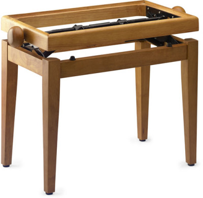 Matt piano bench, maple colour, without top
