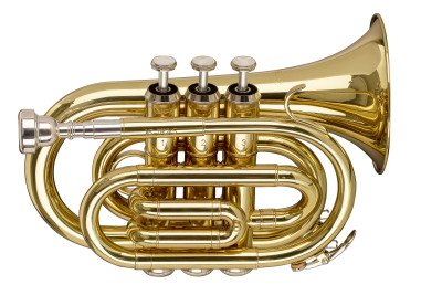 Bb Pocket Trumpet, ML-bore, Brass body material