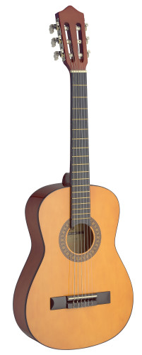 1/2 natural-coloured classical guitar with basswood top