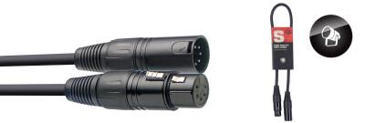 DMX cable, XLR/XLR (m/f) (5 pins), 50 cm (1.6')