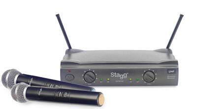 UHF true diversity draadloos tweekanaals microfoonsysteem